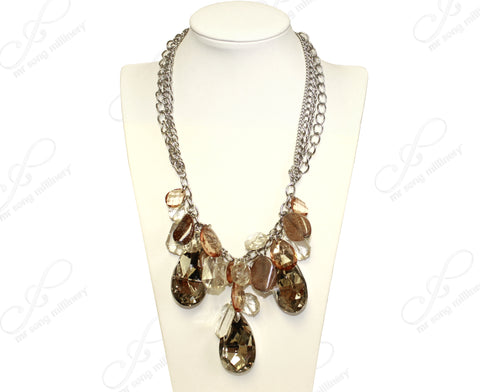 Multi Pendant Necklace - Amber