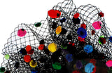 Birdcage Veil Fascinator Rhinestone Headpiece - Multicolor