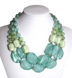 Multi-Layer NecklaceJewelery - Green Blends