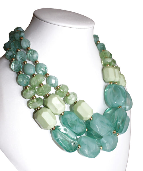Mr. Song Millinery Multi-Layer NecklaceJewelery - Green Blends