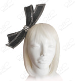 Hand-Knot Ribbon and Cyrstal Rhinestone Fascinator Headband - 2 Colors