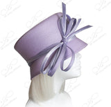 Slant-Crown Straw Cloche Hat With Custome Knotted Loop Bow