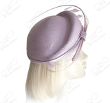 Straw-Tagline Structured Beret Cloche Summer Hat With Feather Accent - 2 Colors