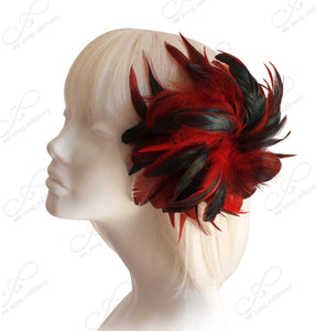 Mr. Song Millinery Feather Fascinator Hairclip - 2 Colors