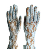 Lace Long Gloves - Aqua Blue