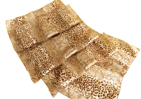 Animal Print Satin Scarf - Assorted Colors