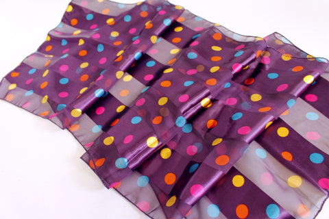 Satin Polka Dot Scarf - Assorted Colors