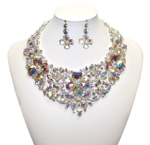 Necklace Jewelery & Earrings - Crystal Aurora Borealis
