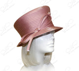 Small Brim Hat With Slanted Crown And Subtle Rhinestone Accent - 4 Colors