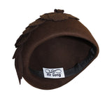 Felt Cloche Hat With Floral Accent - Brown