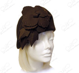 Softest Felt Cloche Hat With Floral Accent - Brown