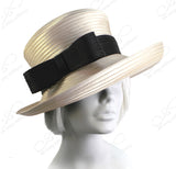 Medium Turn-Up Brim Hat With Bow - 6 Colors