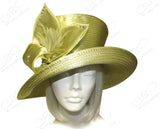 Flaretop Wide Brim Hat With Floral Accent - Gray