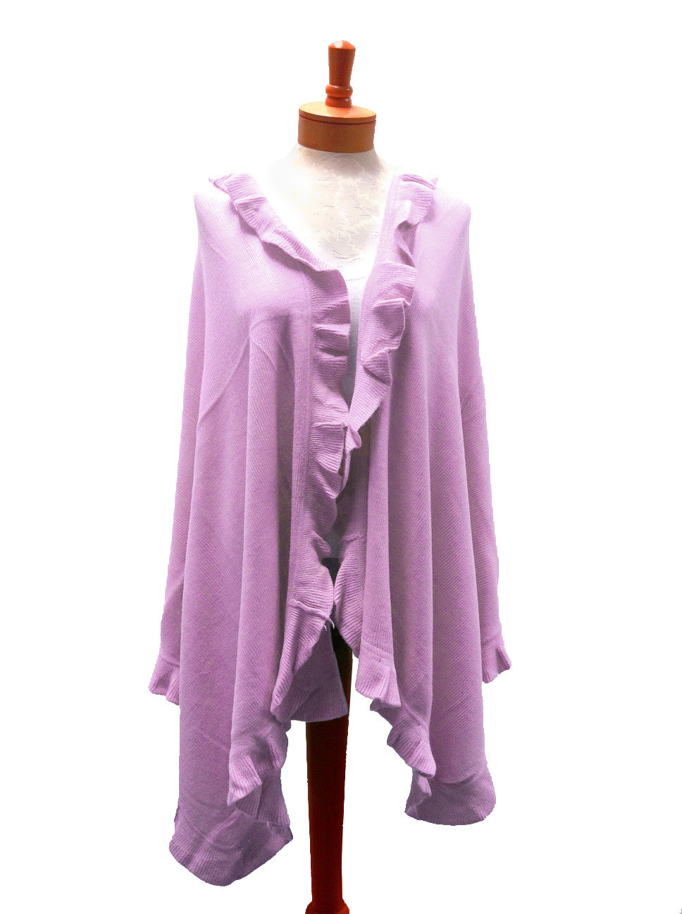 Mr. Song Millinery Shawl Wrap Ruffled Edging - 2 Colors