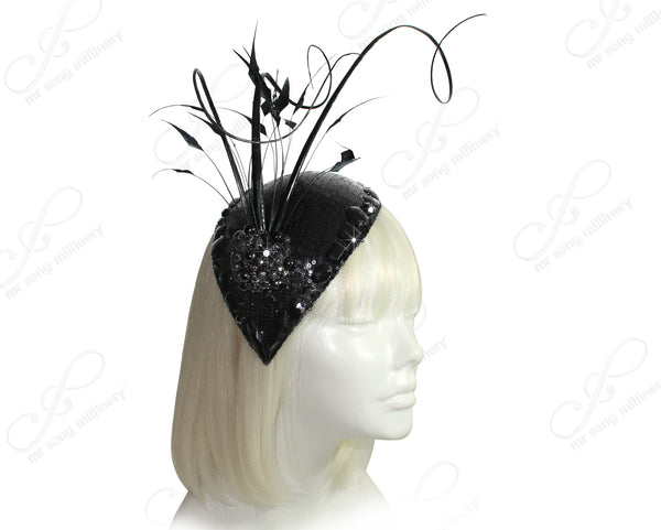 Mr. Song Millinery All-Season Kentucky Derby Profile Petite Teardrop Fascinator - 2 STYLES