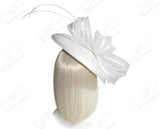 All-Season Lace Crin Profile Dish Fascinator - White