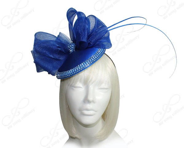 Mr. Song Millinery All-Season Petite Profile Dish Fascinator - 2 COLORS