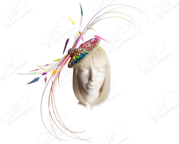 "Profile Fascinator Headband ""Bird of Paradise"" - 2 Colors"