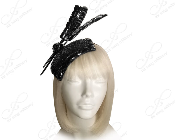 "All-Season Beaded Fascinator Headband ""Contessa"" - 4 Colors"