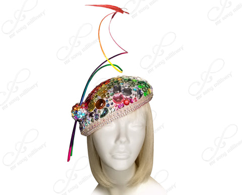 Mr. Song Millinery All-Season Beanie Fascinator Headband - 3 Colors