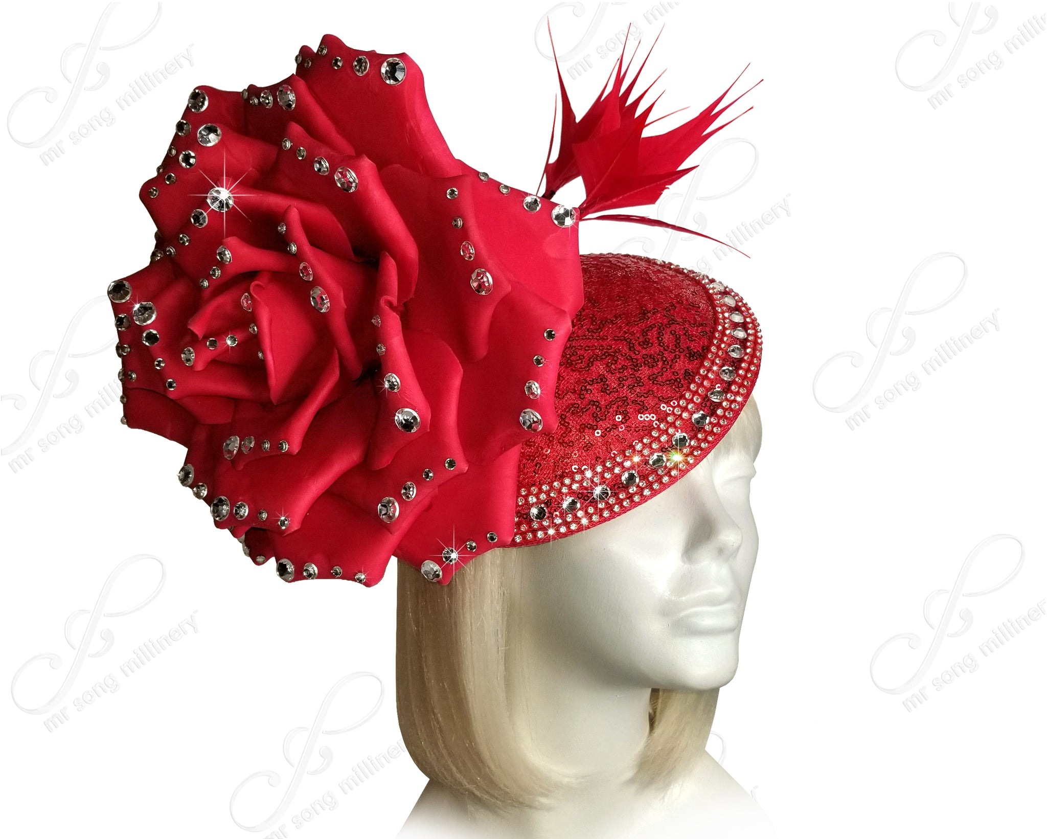 Peony Flora Profile Beanie Fascinator Headband - 2 Colors