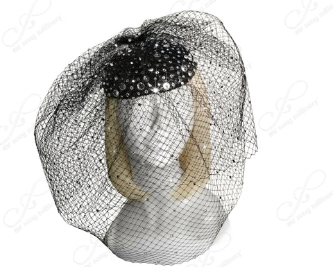 Birdcage Veil Beanie Fascinator Headpiece
