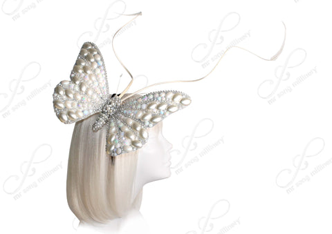Mr. Song Millinery Papillon Profile Fascinator Headband