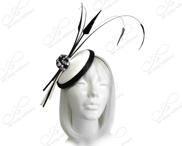 Mr. Song Millinery Profile Dish Beanie Fascinator Headband - 3 Colors