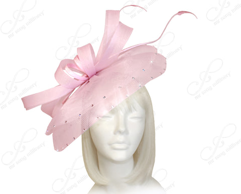 Profile Dome-Dish Headband Fascinator - Pink