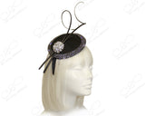 Profile Dish Beanie Fascinator Headband - Black