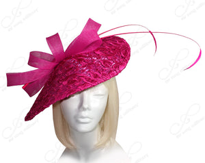 Mr. Song Millinery All-Season Sinamary Profile Dome-Dish Headband Fascinator - Pink