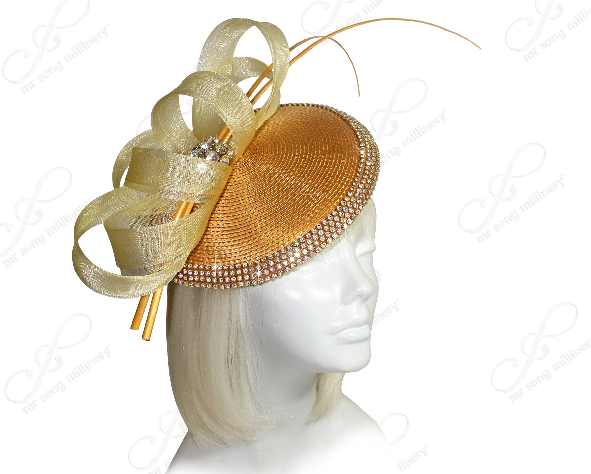 Mr. Song Millinery Kentucky Derby Profile Dish Fascinator Headband - 2 COLORS