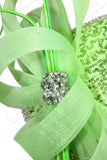 All-Season Lace Sinamary Petite Profile Dish Fascinator - Lime Green