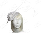 All-Season Sinamary Petite Profile Dish Fascinator - White