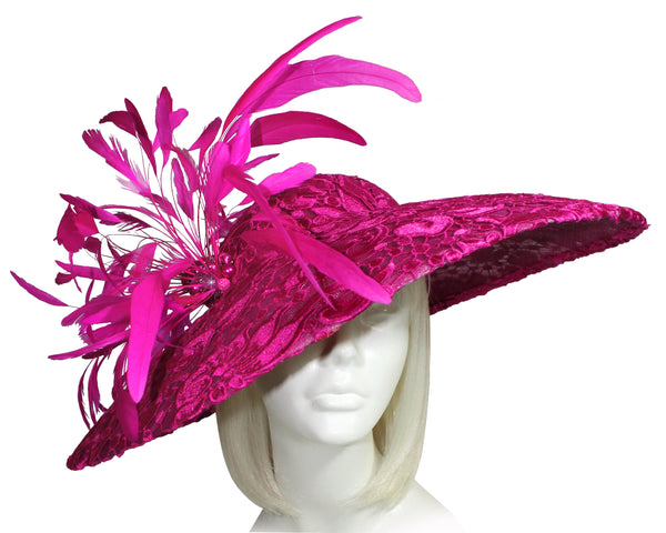 Mr. Song Millinery All-Season Sinamary Profile Dome-Dish Hatinator - Pink