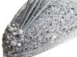 All-Season Profile Petite Teardrop Fascinator Headband - Silver