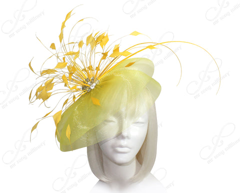 Mr. Song Millinery All-Season Crin Profile Headband Fascinator - 2 COLORS
