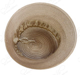 Medium Brim Hat Brim With Crin Accent - Beige