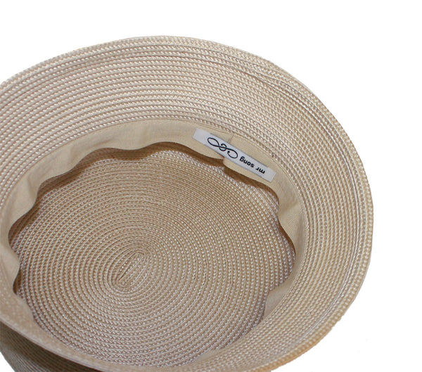 Mr. Song Millinery Tagline Straw Bell Cloche Hat Body - Assorted Colors