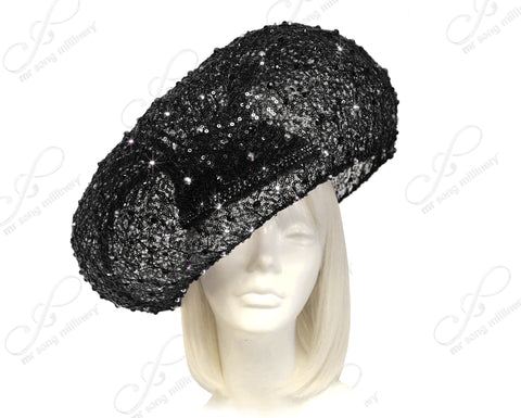 """Birdnest"" Paillette Lace Hatinator - 2 Colors"