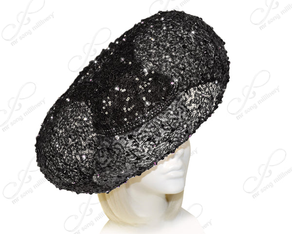 "Mr. Song Millinery ""Birdnest"" Paillette Lace Hatinator - 2 Colors"