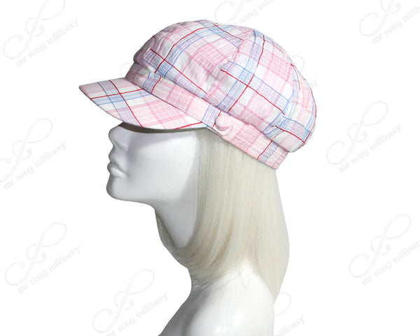 Mr. Song Millinery Plaid Newsboy Cap - 3 Colors