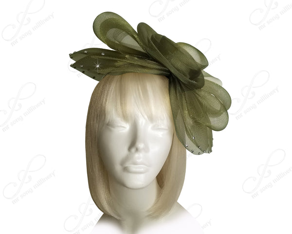 All-Season Crin Bridal Veil Fascinator Headpiece - 2 Colors