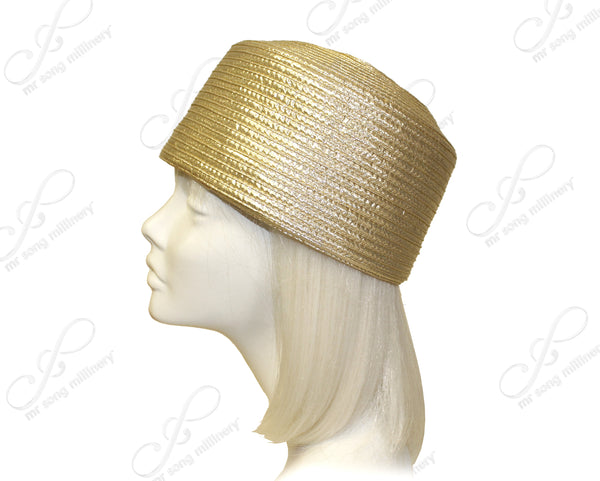 Mr. Song Millinery All-Season Satin-Crin Pill Box Hat Body - 2 Colors