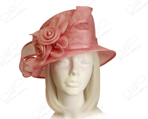 Kentucky Derby Royal Ascot Sinamay Hat With Medium Brim - Cobbler