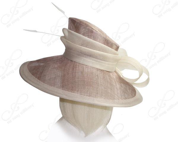 Mr. Song Millinery Derby/Ascot Wide Brim Sinamay Hat - 6 COLORS