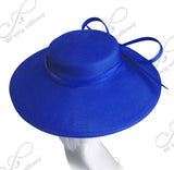 Royal Ascot Hat Hascinator With Knotted Loop Bow - DH228 Blue