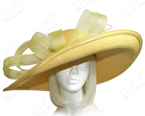 Derby/Ascot Straw Hat With Wide Brim - 3 COLORS