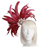 Starburst Fascinator Headband - Burgundy