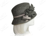 Softest Felt Slant Crown Hat - Heather Grey